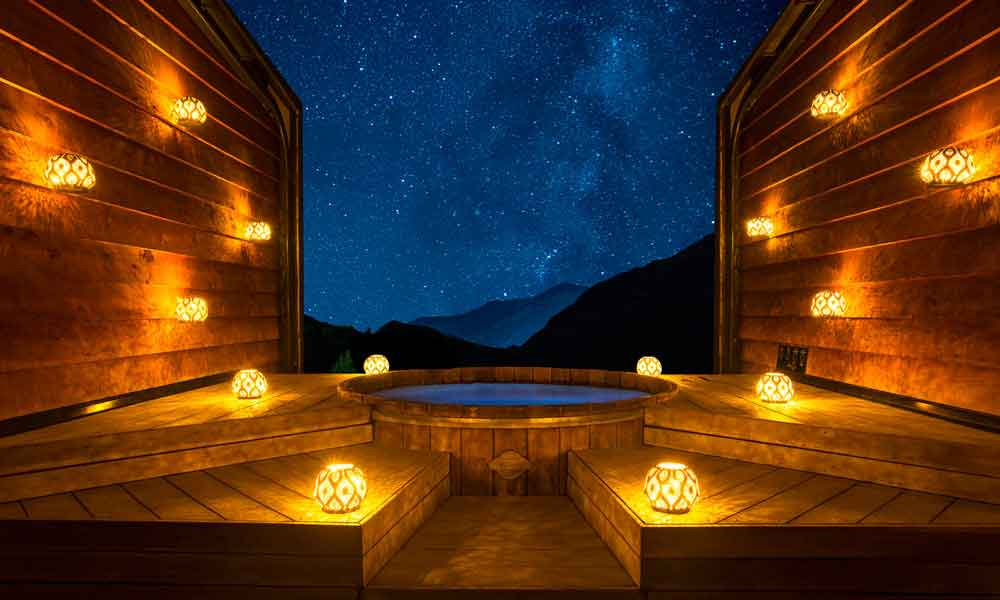 The Onsen Experience (First hour only) Evening Pool (Lanterns) 2 Adults