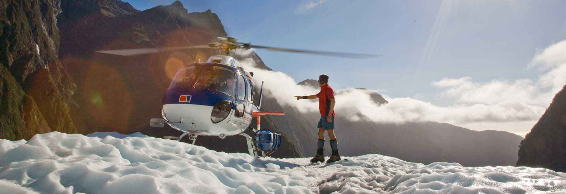 Snow Landing Heli Hike Franz Josef 3 Hours Helicopter Line