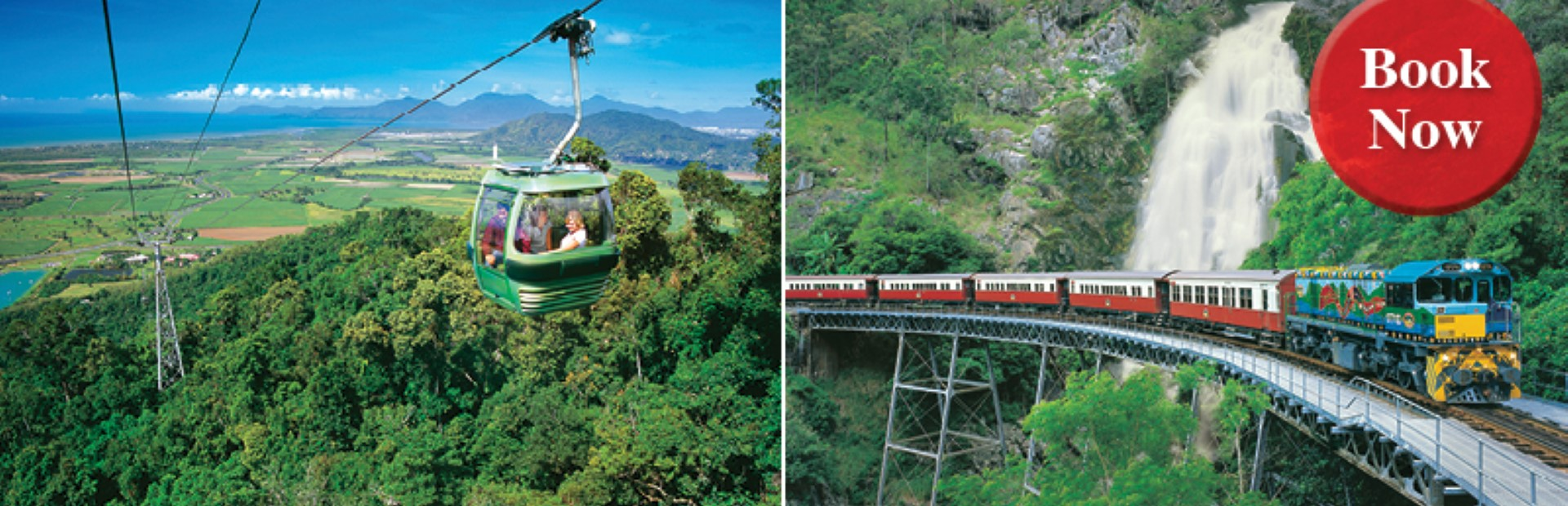 Kuranda Deluxe with Skyrail Rainforest Cableway Ex Cairns CKS or 474S