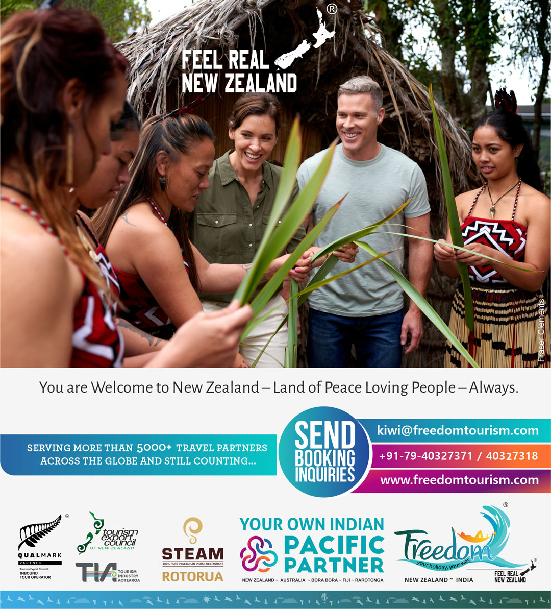 You are Welcome to New Zealand – Land of Peace Loving People – Always! Feel Real New Zealand with Freedom Tourism.